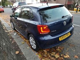 VOLKSWAGEN POLO 2011 1.2 NAVY BLUE ROAD TAX TILL APRIL MOT
