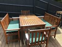 Wooden garden table benches and chairs wooden garden