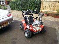 KIDS ELECTRIC 2 SEATER JEEP FEBER DESERT FOX SPARES OR REPAIRS