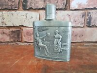 Antique Frieling Germany German Pewter Decorative Hip Flask