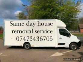 Same day removal services house/flat/room/office/furniture delivery's/furniture disposal
