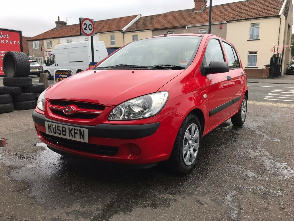 Hyundai Getz 1.4 Petrol Manual 5 Door Hatchback Red 2008 Fantastic Low  Mileage Car