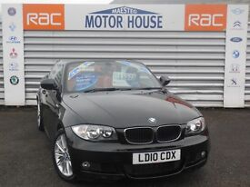 BMW 118d M SPORT (FULL RED LEATHER) FREE MOT'S AS LONG AS YOU OWN THE CAR!!! (black) 2010