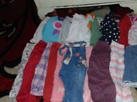 massive bundle job lot of baby girl clothes 6-9 months around 47 items