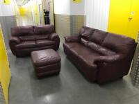 3 piece leather sofa set, Free delivery