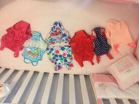 6 baby girls swim costumes