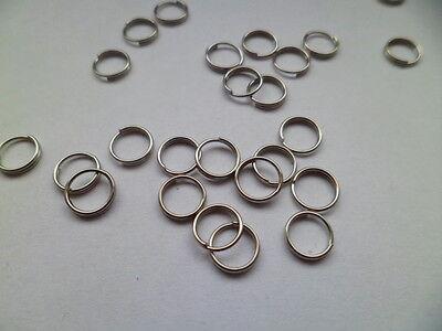 100 Stück silber farbige doppel binderinge 8 mm
