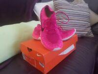 Ladies Pink Nike 3.0 Flynit, Size UK 5