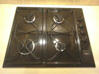 Four ring gas hob.