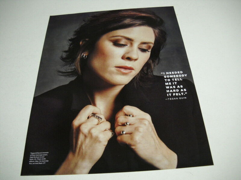 TEGAN QUIN I Need Somebody To Tell Me It Was Hard... 2019 PROMO POSTER AD mint