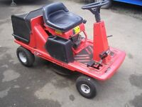 RIDE ON MOWER WITH GRASS COLLECTOR
