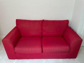 Used John Lewis Red 2 Seater Sofa