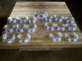 Dance Wear/ Costumes 17 Lilac/White feather Tiara's