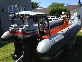 Rigid Inflatable Boat RIB BWM 18ft
