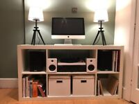 White IKEA Kallax Bookcase / Sideboard