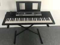 yamaha ypt-240 keyboard with stand