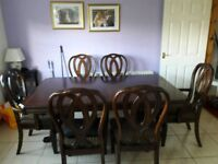 Harvey Norman table + 6 chairs