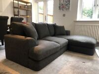 ONLY 6 MONTHS OLD - IMMACULATE CONDITION NEXT CORNER SOFA AND SNUGGLE CHAIR