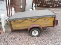 boxed car trailer good condition please call no time wasters please