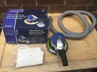 150mm AIR PALM SANDER WITH DUST BAG AND HOSE