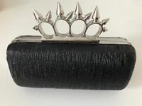 Black Hard Clutch Bag