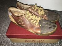 Replay Brown Casual Shoes - Size 11
