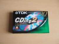 LOT 2 - THREE NEW TDK CDing 2 - 90 AUDIO CASSETTE TAPES - see description –