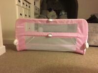 Lindam pink single bed guard