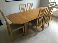 Expandable Dining Table & 6 Chairs