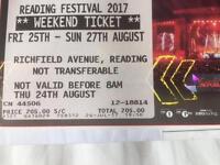 2x reading festival 2017 weekend tickets