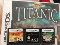 Nintendo ds games plus game console lead for sale