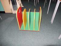 childrens coloured bookstand