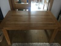 Solid Oak dinning table £90 for quick sale