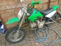 110cc semi auto pit bike