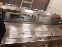 Commercial Chip shop deep fat fryer and warmer