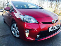 TOYOTA PRIUS T-SPIRIT 2014 14 PLATE UK CAR FULL HISTORY SATNAV HALF LEATHERS HPI CLEAR NOT AURIS