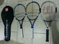 Tenis rackets 2x babolat contest limited and nanostrenght technology, 1wilson hamer carbon matrix!
