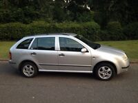 SKODA FABIA 1.4 AUTOMATIC ESTATE 2002 MOT JANUARY 2018 LOTS OF SERVICE HISTORY LOW COST ROAD TAX