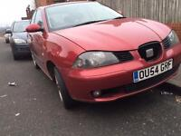 Seat Ibiza 1.2 2004 - 5 dr - MOT&TAX - damaged - cheap - not fabia Yaris corsa Clio ka 206 focus 1.0