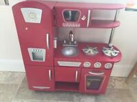 Kidikraft red wooden toy kitchen with accessories - £80 ono