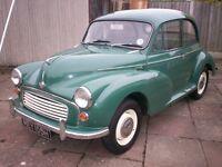Morris 1000 1970 2 Door Almond Green MOT June 2017