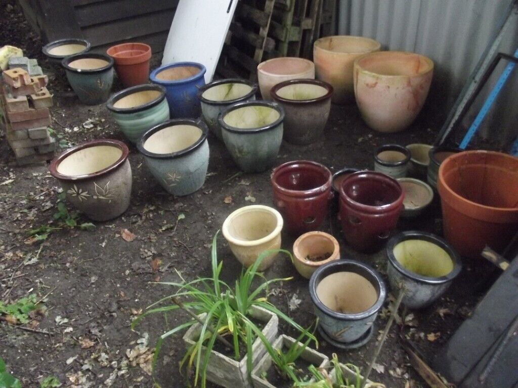 Quantiy Of Garden Plant Pots Seconds Now Clearing