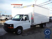 2014 GMC Savana 3500-16ft Cube Van-CVIP Certified-Only 14,597KMS