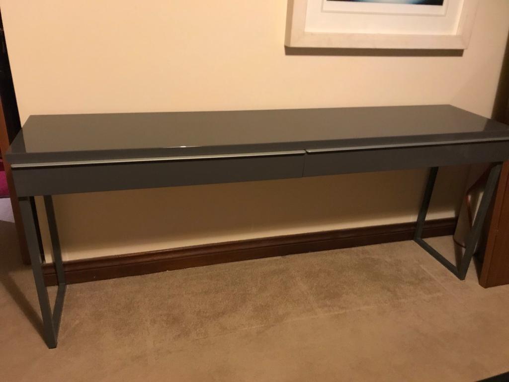 ** Smokey Grey Gloss ikea computer table **