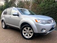 MITSUBISHI OUTLANDER ELEGANCE 2.0 DiD 4x4*7 SEATER*SAT NAV*LEATHER*REVERSE CAMERA*P/SENSORS*S/ROOF