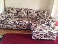 beautiful floral pattern Corner sofas