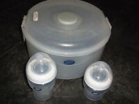Boots Baby 2-in-1 Combination Steriliser with Bottles *Excellent Condition*