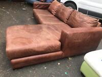 Lovely Tan leather corner sofa