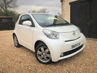 Toyota iQ 2 *Watch Video* Free Road Tax 1.0 Keyless Entry and Start AUX FSH Pearl White New MOT