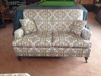 hand made vintage sofa and matching armcbair